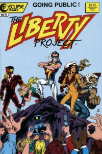 The Liberty Project- Eclipse Comics - Co creator with Kurt Busiek - Character design - pencils by James Fry