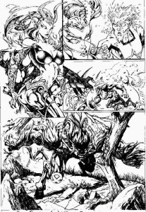 Marvel Comics - Mutant X - Unpublished Sample Pages - Pencils by James Fry