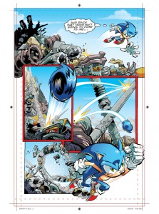 Sonic the Hedgehog - Archie Comics- Character Design & Pencils by James Fry