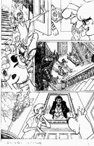 Scooby Doo - Marvel Comics - Sample page - unpublished pencils by James Fry